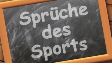 Sprüche des Sports